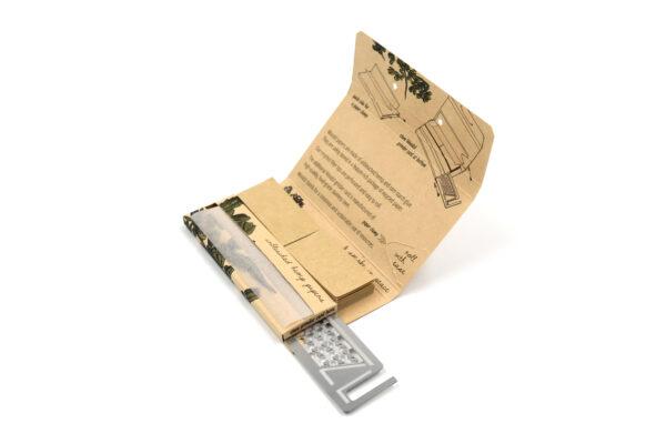 Woodzl 1 1/4 Sticky Papers, ungebleicht, mit Grinderkarte