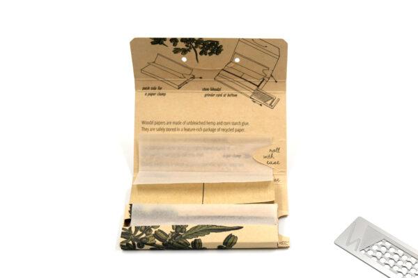 Woodzl 1 1/4 Sticky Papers, ungebleicht, geöffnet mit Paperclamp