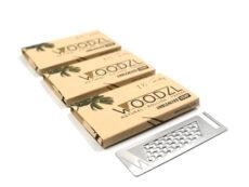 Woodzl 1 1/4 Sticky Papers, ungebleicht, im 3er Set mit Grinderkarte