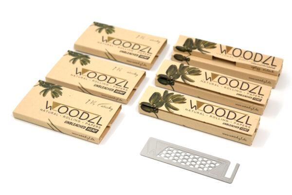 Woodzl Supreme Set, Longpapers, 1 1/4 Sticky Papers, Grinderkarte